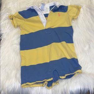 Ralph Lauren Baby Striped Polo Shortall